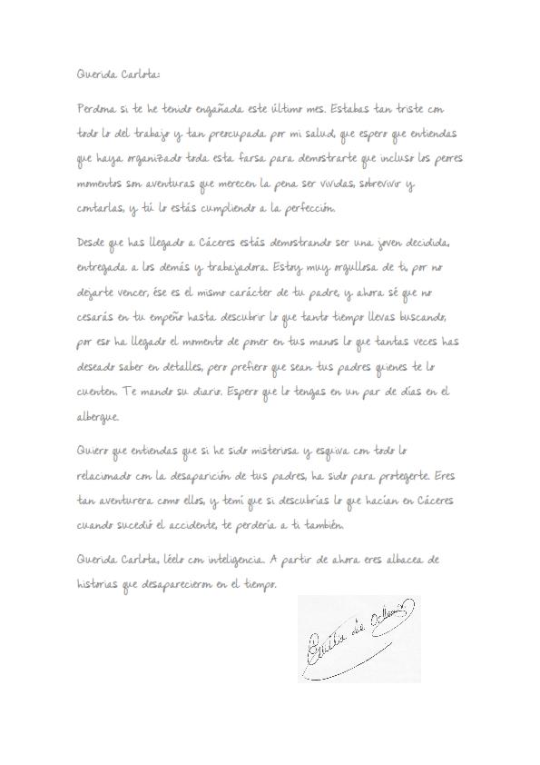 Carta de Emila de Orleans a Carlota