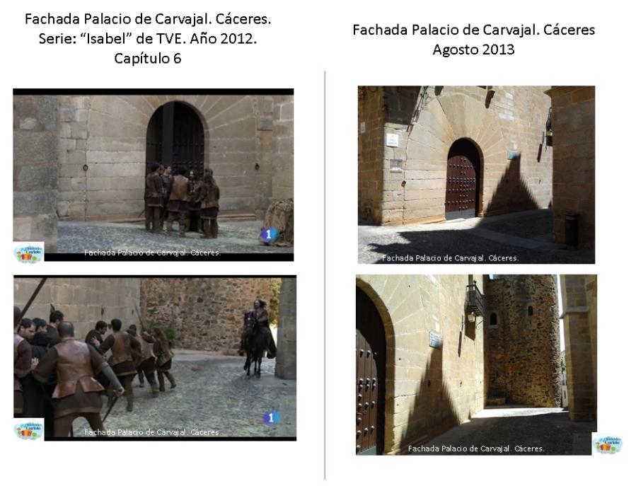 Fachada del Palacio de Carvajal.