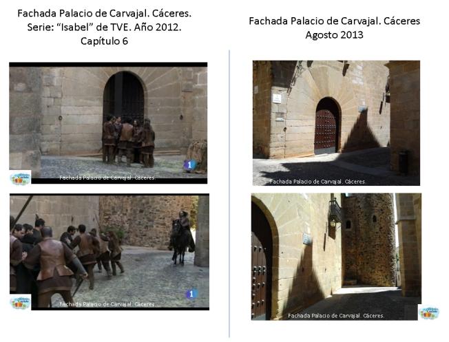 Cáceres Patrimonio de la Humanidad. Fachada del Palacio de Carvajal. Minuto 55:22