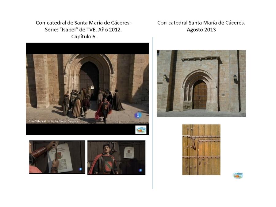 Fachada de la Con-Catedral de Santa María de Cáceres. CAPÍTULO 6: Minuto 2:29