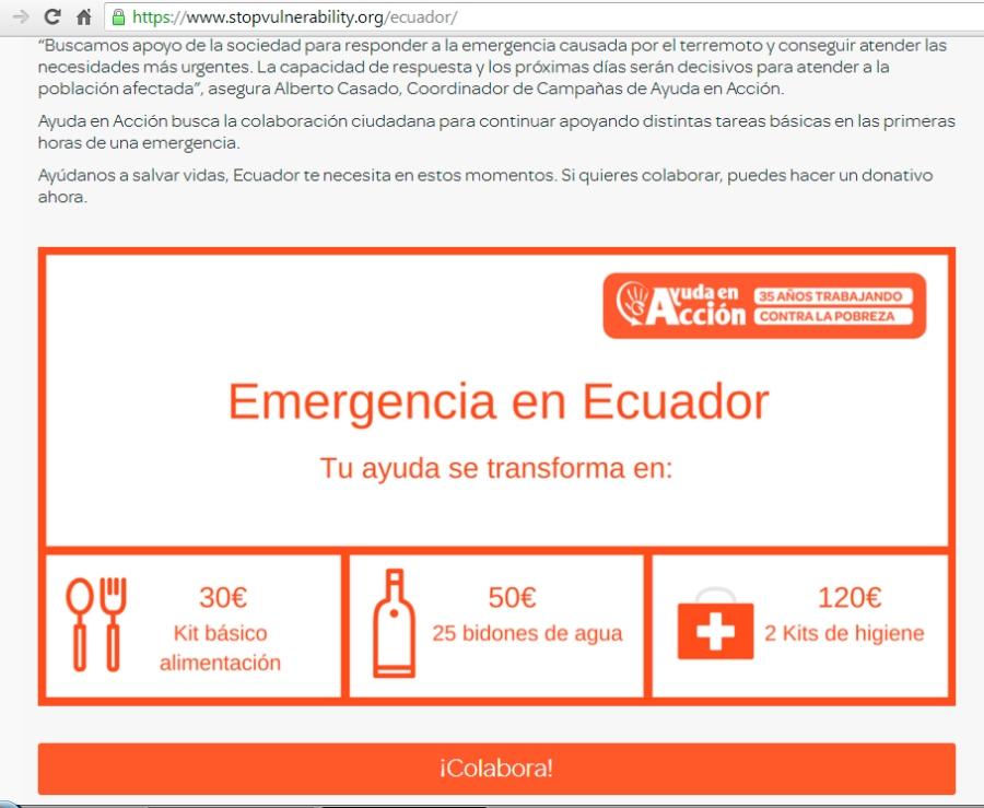 ayuda ecuador