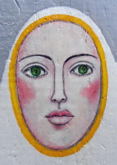 AUTOR: Ángel Álvarez de Sotomayor TÍTULO: Virgen TÉCNICA: Óleo sobre madera DIMENSIONES: 46x22 cm PRECIO: 80 € Íntegramente donado a Ayuda en Acció
